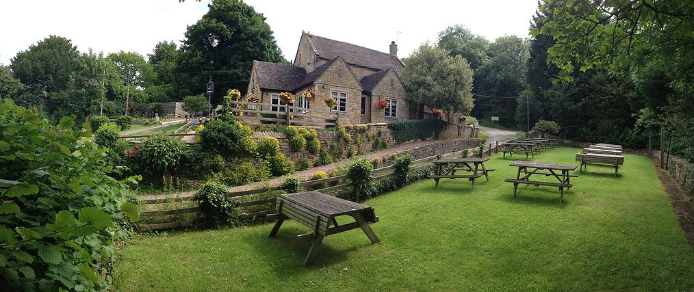 The Mount Inn Pub in the village of Stanton, Cotswolds.